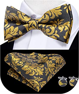 Best gold bow tie and pocket square Reviews