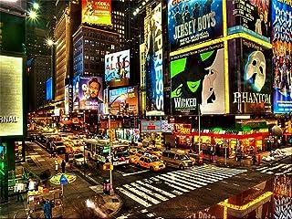 New York City Times Square Hintergrund Hochwertigen Hochformat Reinigungstuch Computer bedruckt Scenic Hintergründen dd j00842