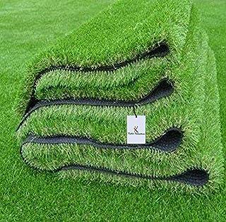 Kuber Industries PVC High Density Artificial Grass Carpet Mat (6.5 x 4 ft, Green, GrassCT34), 199x122x1 Cm