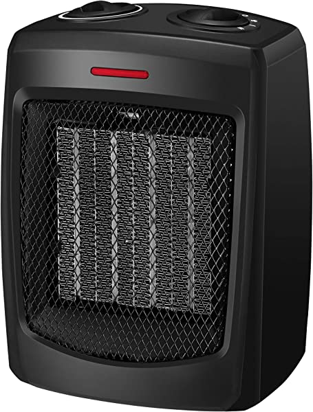 Andily Space Heater Electric Heater For Home And Office Ceramic Small Heater With Thermostat 750W 1500W