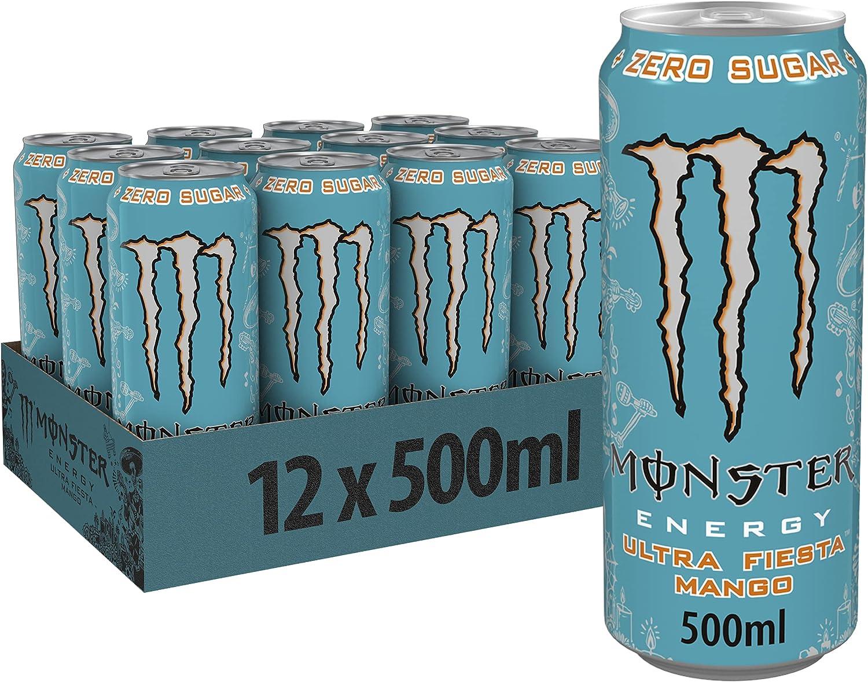 Monster - Energy Ultra Fiesta - Latas (12 unidades, 500 ml)