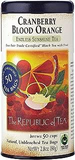 The Republic of Tea Cranberry Blood Orange Black Tea, 50 Tea Bags, Gourmet Blend