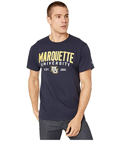 Champion College Marquette Golden Eagles Jersey Tee (Navy) Men