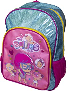 The Bellies from Bellyville - Mochila Infantil Adaptable a Carro con tamaño Mediano para niños a Partir de 3 años (Famosa 700015956) Rosa