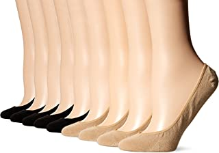 Women's Classic Low Cut Liner Socks with Silicone Tab-8 Pair Pack