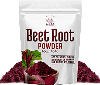 ALKA-G Beetroot Powder 12 Oz   Superfood Beetroot Supplement Pre Workout Booster & Natural Energy   100% Organic Beetroot ...