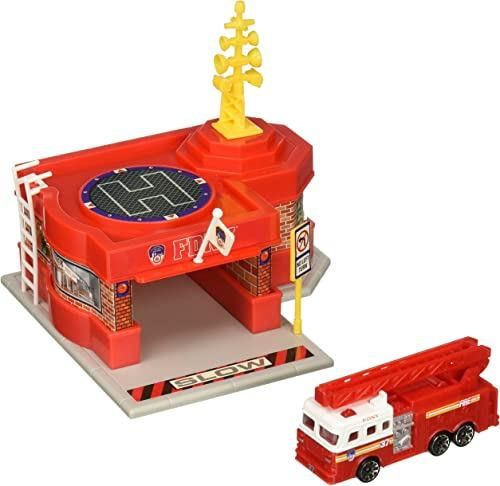 Daron FDNY Mini Fire Station with 1 Vehicle
