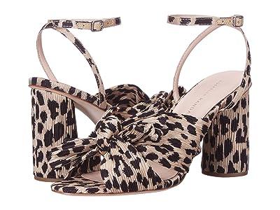 Loeffler Randall Camellia Knot Mule (Leopard Pleated Fabric) Women