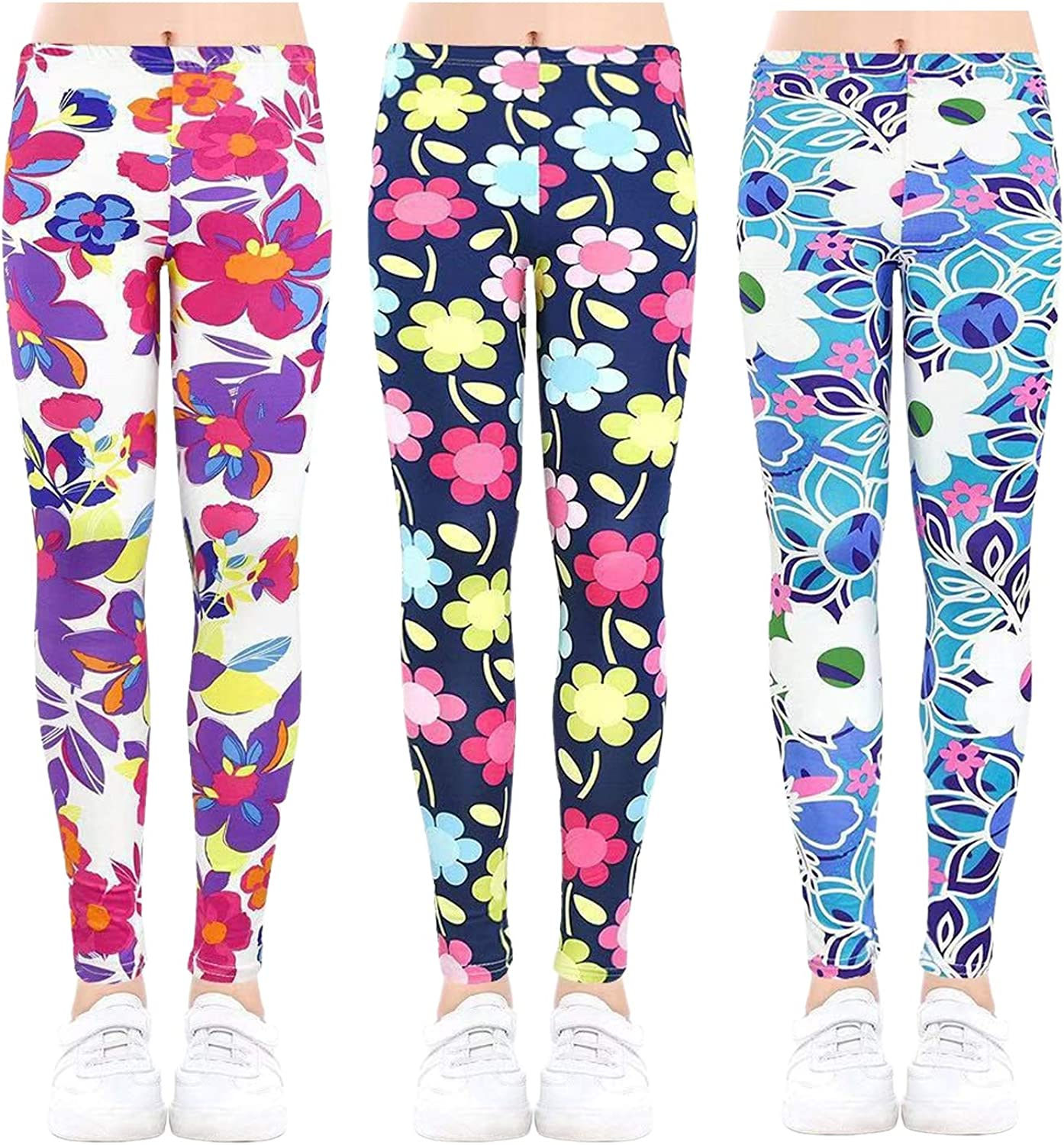 Allesgut Girls' Assorted Leggings Ankle Pants Length Bombing new work Super special price Footless Ti