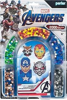 Perler PER8063070 Marvel Avengers Fuse Bead Kit, 2004pc, 4 Patterns, Multicolor