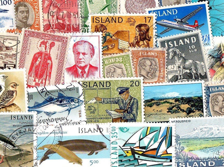 marca Pghstamps Islandia Islandia Islandia 600 Colección de Diferentes Sellos para coleccionistas  Más asequible
