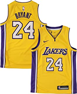 cba9894d4 Nike Youth Small (8) Kobe Bryant Los Angeles Lakers Icon Edition Jersey -  Gold