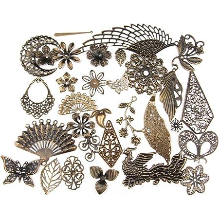 DIY Jewelry Filigree Creations DIY Creations Filigree Bronze Minuteria Filigree Jewelery 4 pieces Filigree Minuteria Bronze