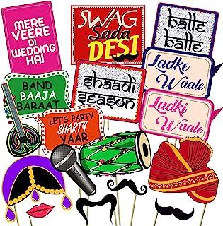 Party Propz Photo Booth/Mehandi/Sangeet/Bachelorette Props (Multicolour)