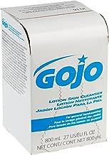 GOJO Lotion Soap Skin Cleanser, 800 mL Lotion Hand Soap Refill for GOJO 800 Series Bag-in-Box Soap Dispenser (Pack of 12) - 9112-12