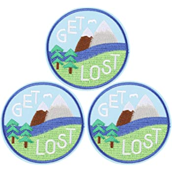Got Lost In Nature Iron On Patch Embroidered Outdoors Nature Hiking Patches