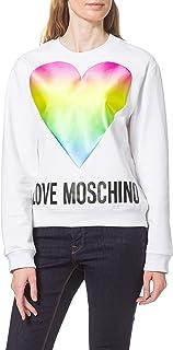 Love Moschino Regular-Fit Long-Sleeved Crewneck Sweatershirt Maglia di Tuta Donna