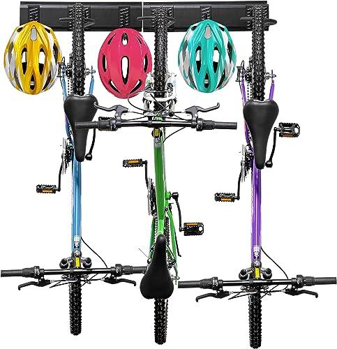new arrival RaxGo new arrival Wall Bike Rack 2021 3 Bicycle hooks and 3 Helmet Hooks online