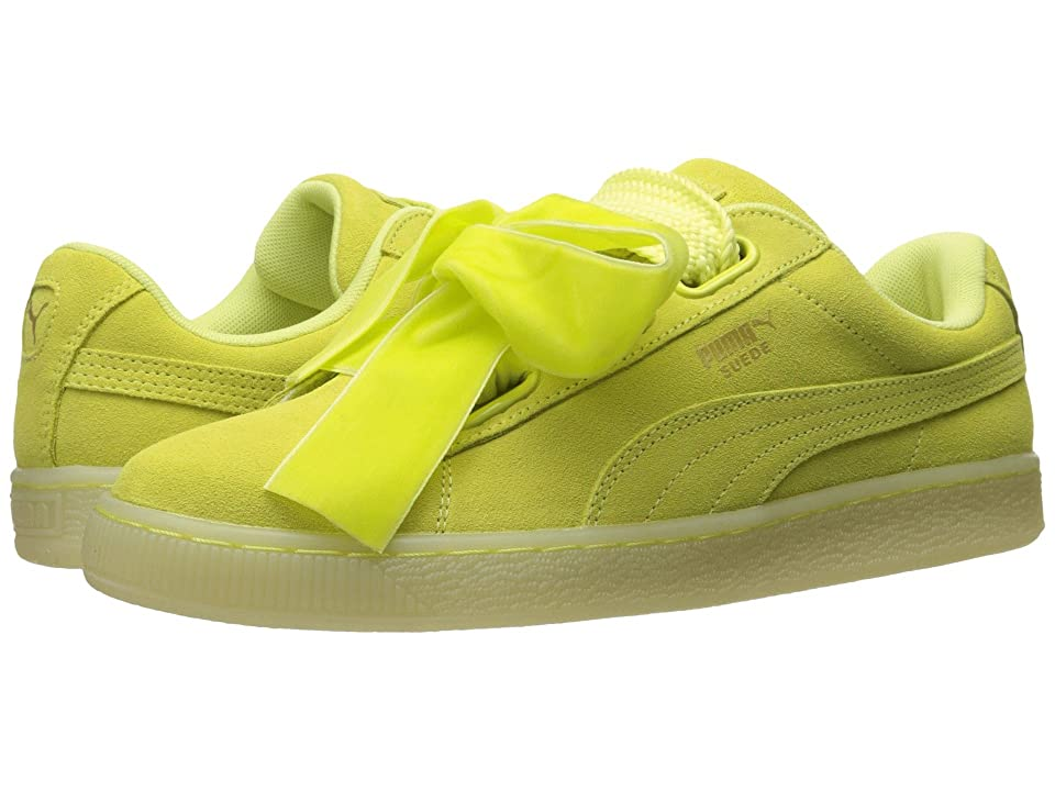 PUMA Suede Heart Reset (Soft Fluo Yellow/Soft Fluo Yellow) Women