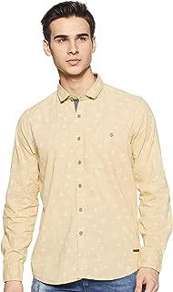 CHEROKEE Men's Printed Regular fit Casual Shirt (400018072912_Khaki XL)