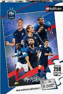 Nathan- Puzzle 250 pièces Tous Ensemble avec Les Bleus FFF Clubs de Foot Enfant, 4005556868780