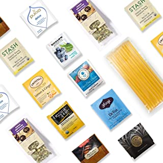 Body Cleanse Tea Kit - 40+ Servings Healthy Detox Tea Assortment with 10 Honey Sticks. Perfect Sampler Gift for Those Who Want Healthy Lifestyle & Fit Body Figure. Best Tea Gift.