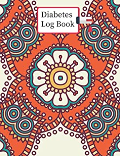 Diabetes Log Book: 2 years, Daily Target Blood Sugar Range Insulin Does Carb Phys Activity Record ( Pattern Design )