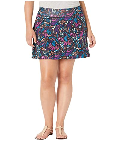 Skirt Sports Plus Size Free Flow Skirt (Bonita Print) Women