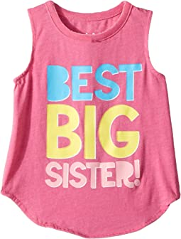 Chaser Kids - Best Big Sister Muscle Tank (Toddler/Little Kids)