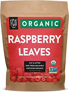 Organic Red Raspberry Leaf | Herbal Tea (200+ Cups) | Cut & Sifted Leaves | 16oz Resealable Kraft Bag (1lb) | 100% Raw Fro...