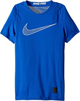 f873283329b4 Game Royal Game Royal White White. 36. Nike Kids. Pro Fitted Short Sleeve  Training Top (Little ...