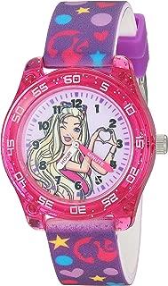 Barbie Girls' Analog-Quartz Watch with Rubber Strap, Purple, 15.5 (Model: BAB9000)