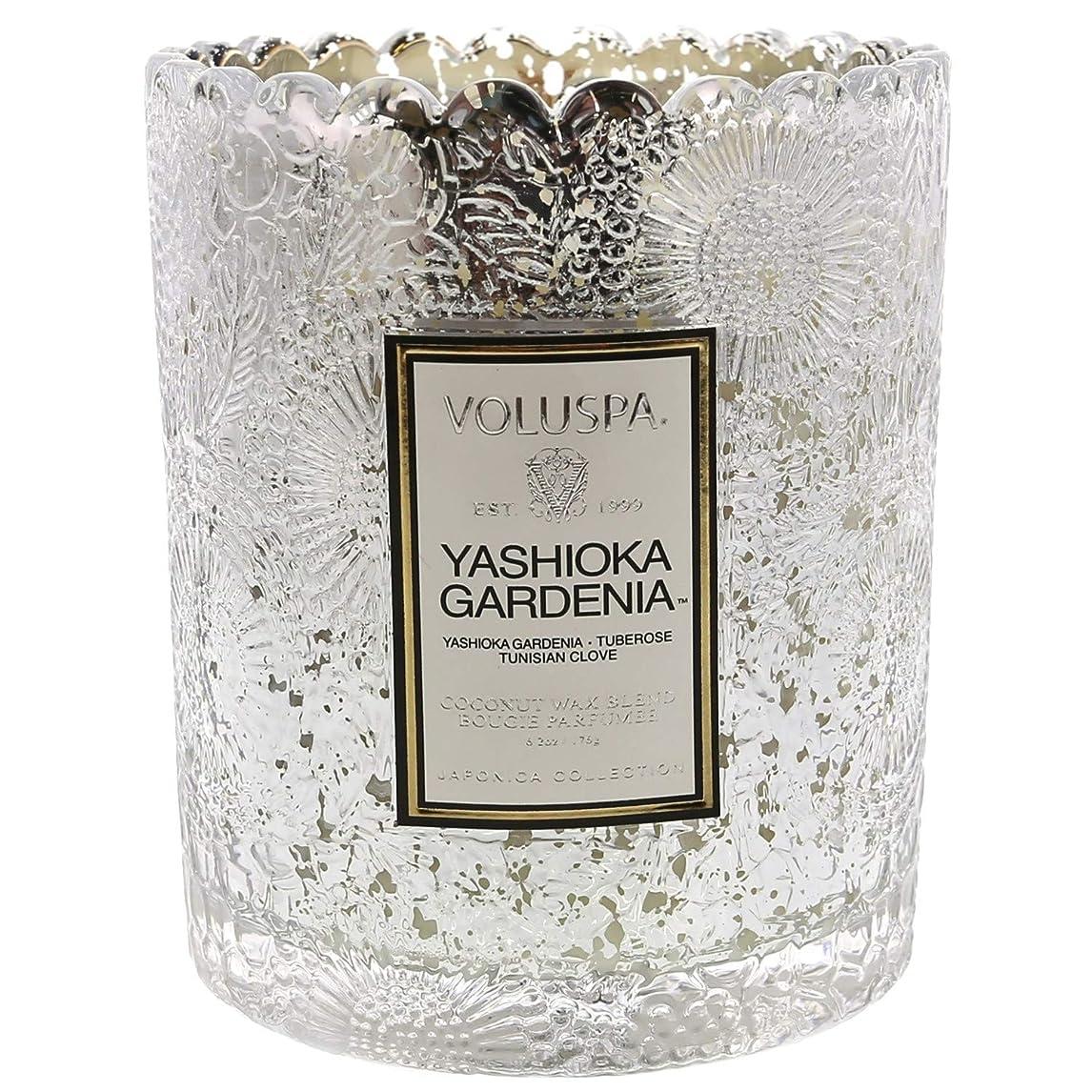 知覚的宿命球体Voluspa ボルスパ ジャポニカ リミテッド スカラップグラスキャンドル  ヤシオカガーデニア YASHIOKA GARDENIA JAPONICA Limited SCALLOPED EDGE Glass Candle