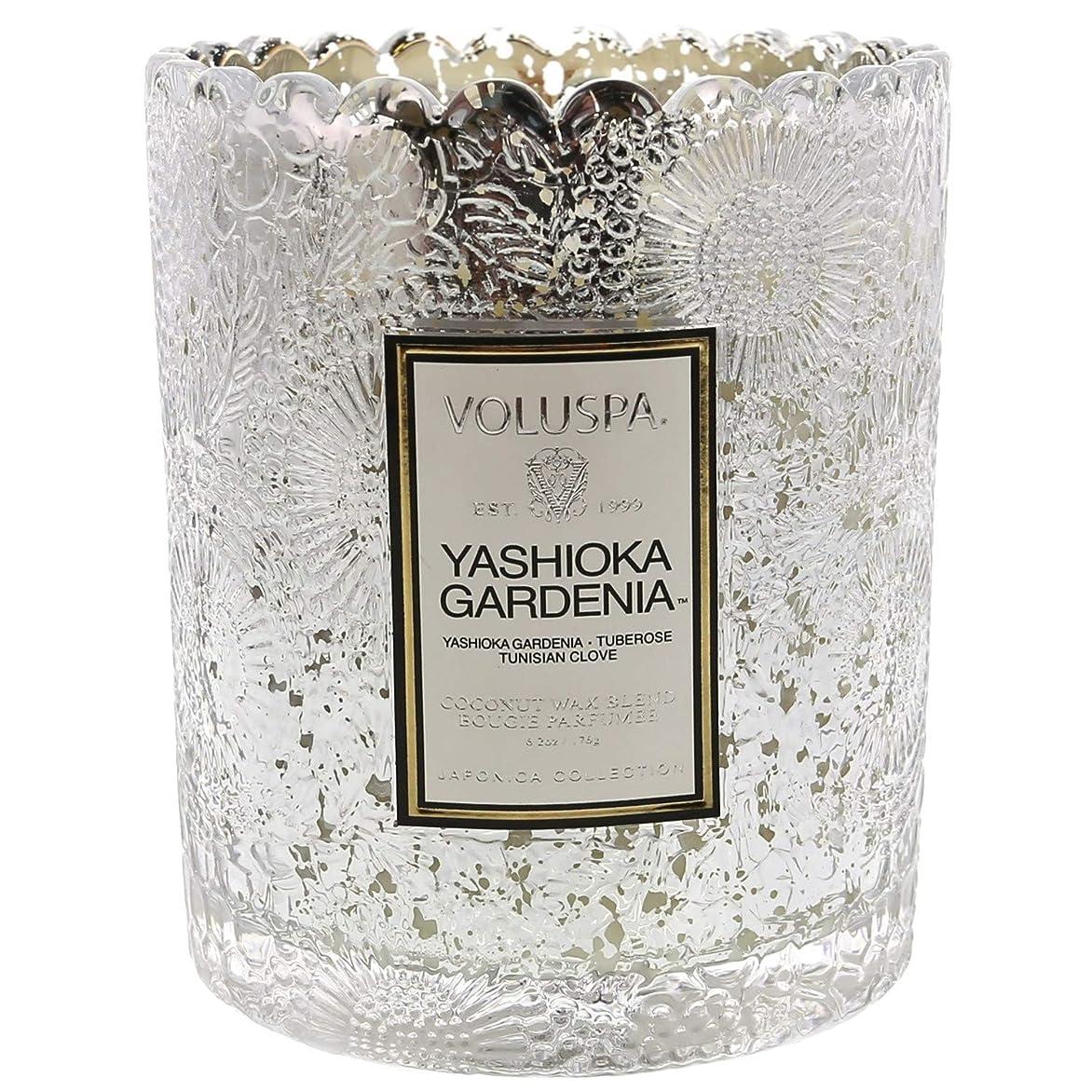 Voluspa ボルスパ ジャポニカ リミテッド スカラップグラスキャンドル  ヤシオカガーデニア YASHIOKA GARDENIA JAPONICA Limited SCALLOPED EDGE Glass Candle