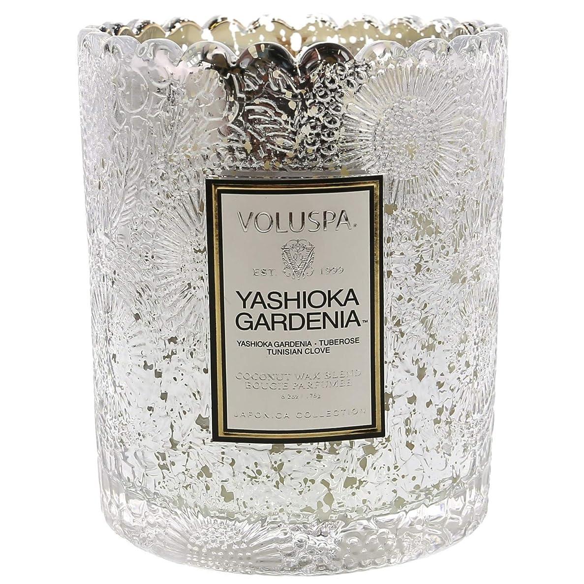 ハシーテメリティあいまいVoluspa ボルスパ ジャポニカ リミテッド スカラップグラスキャンドル  ヤシオカガーデニア YASHIOKA GARDENIA JAPONICA Limited SCALLOPED EDGE Glass Candle