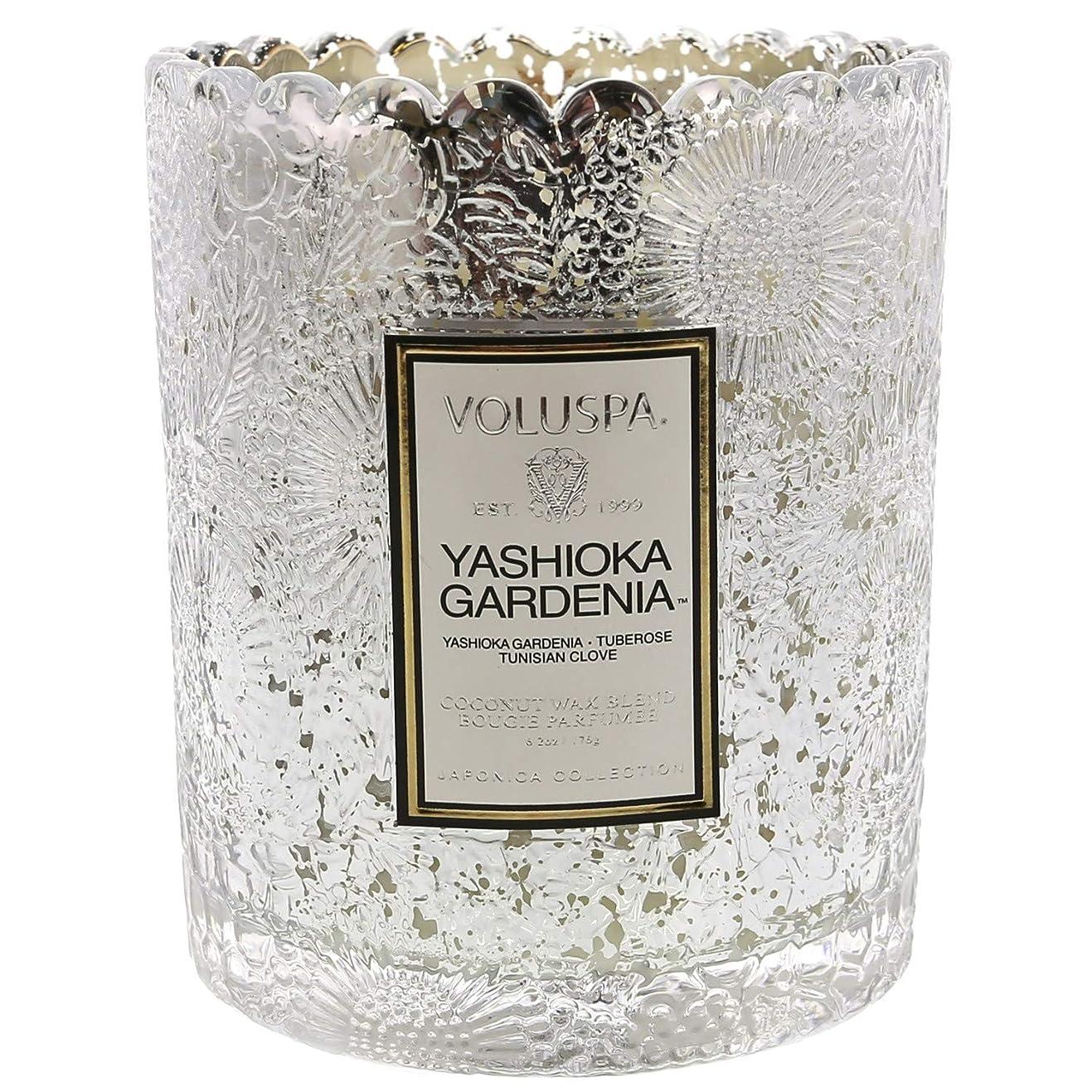 航海のめったに恒久的Voluspa ボルスパ ジャポニカ リミテッド スカラップグラスキャンドル  ヤシオカガーデニア YASHIOKA GARDENIA JAPONICA Limited SCALLOPED EDGE Glass Candle