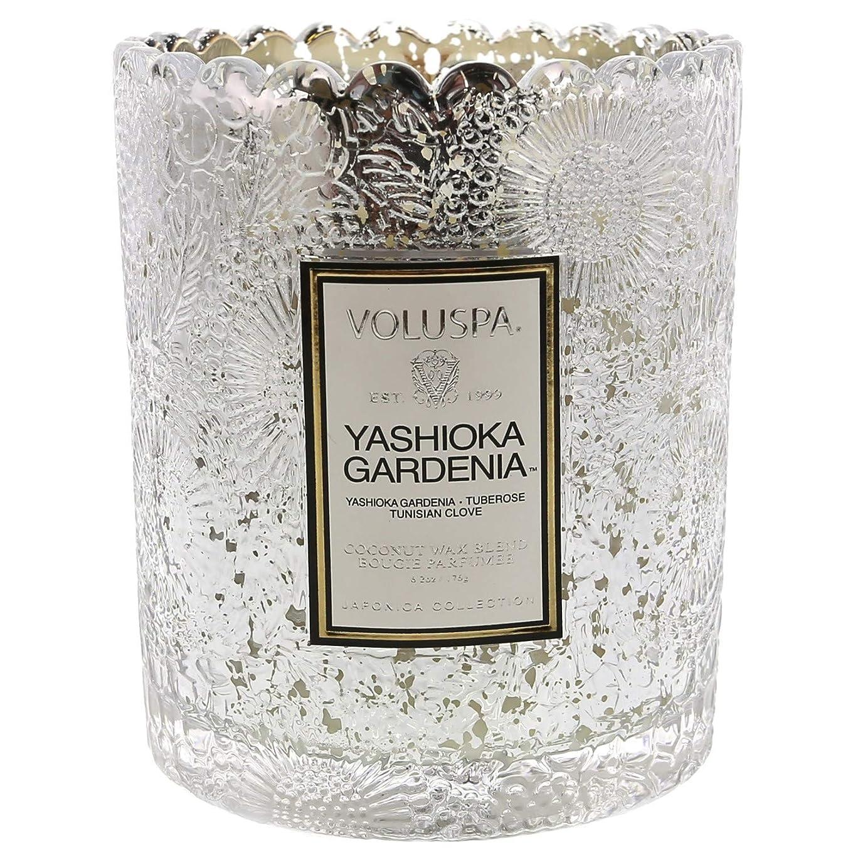 咳しなやかきれいにVoluspa ボルスパ ジャポニカ リミテッド スカラップグラスキャンドル  ヤシオカガーデニア YASHIOKA GARDENIA JAPONICA Limited SCALLOPED EDGE Glass Candle