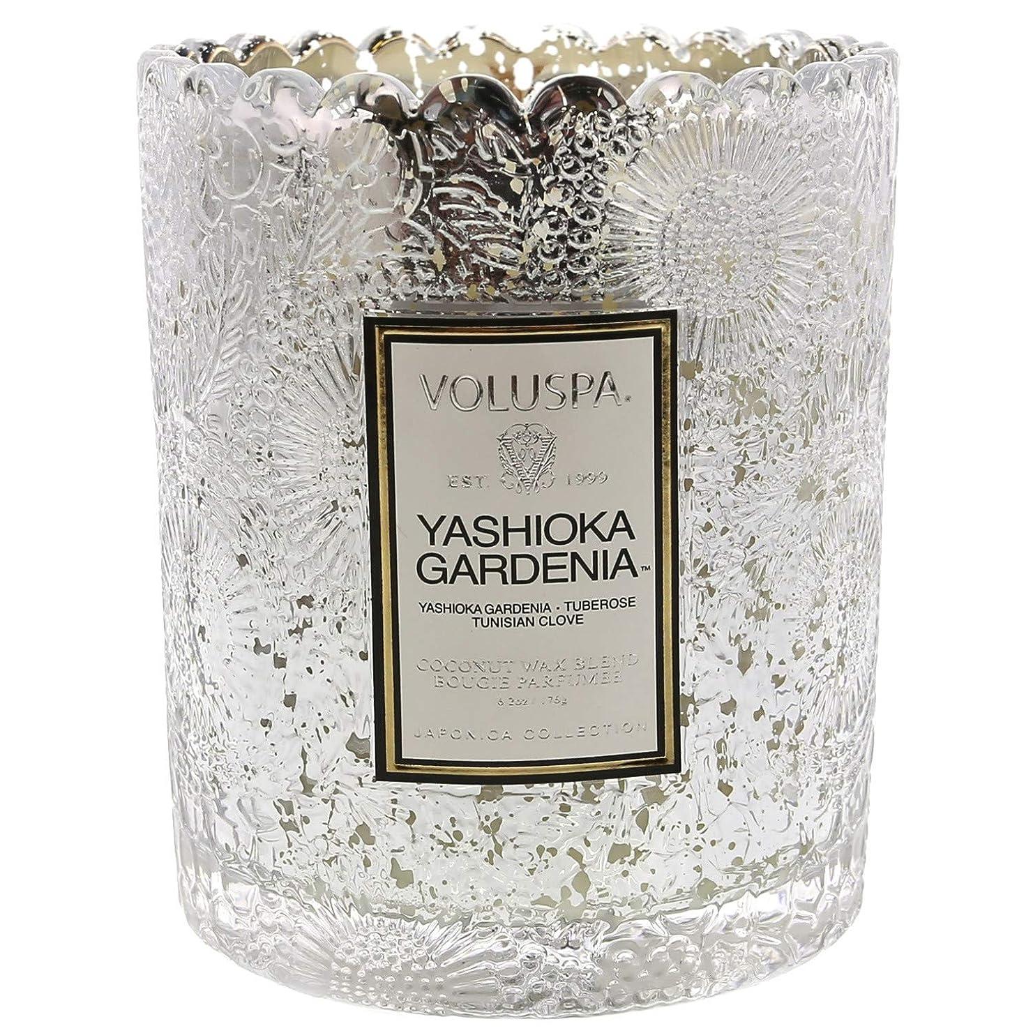 卑しい辛い関係するVoluspa ボルスパ ジャポニカ リミテッド スカラップグラスキャンドル  ヤシオカガーデニア YASHIOKA GARDENIA JAPONICA Limited SCALLOPED EDGE Glass Candle