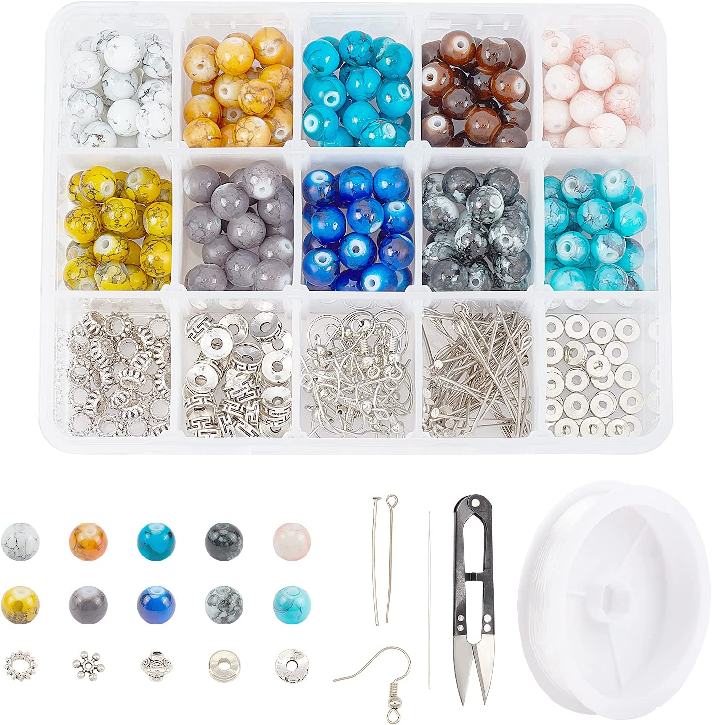 SUNNYCLUE 1 Box 200Pcs 10 Colors 8mm Glass Outlet sale feature Beads Discount is also underway Makin Jewellery