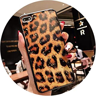 ためのiphone 6 6 s 7 8プラスx xr xsマックス電話ケース高級グリッターキラキラ箔ヒョウプリントハードpc電話ケースのためのiphone x,T1,For iPhone 6 6s