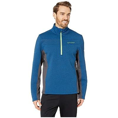 Spyder Encore 1/2 Zip Core Sweater (Old Glory Blue/Ebony Grey) Men