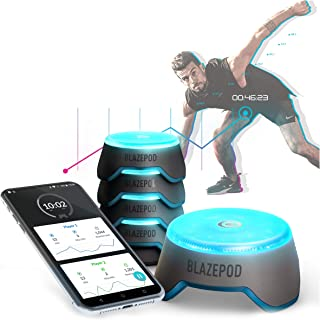 BlazePod Flash Reflex and Reaction Training LED Light Pods to Improve Reaction Time, Fitness, Speed and Agility - for Coaches, Gyms, Sports Facilities and Individual Athlete Workouts