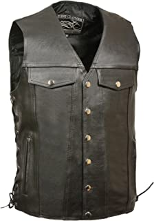 Event Leather Men's Denim Style Vest (Black, XXX-Tall) (4)