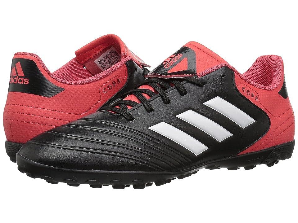 adidas Copa Tango 18.4 Turf (Black/White/Real Coral) Men