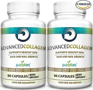 (2) Super Colageno Hidrolizado Puro Y Natural En Pastillas Capsulas Formula Avanzada Para Las