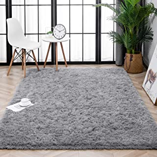 Lnoice Soft Fluffy Area Rugs for Bedroom, Indoor Grip...