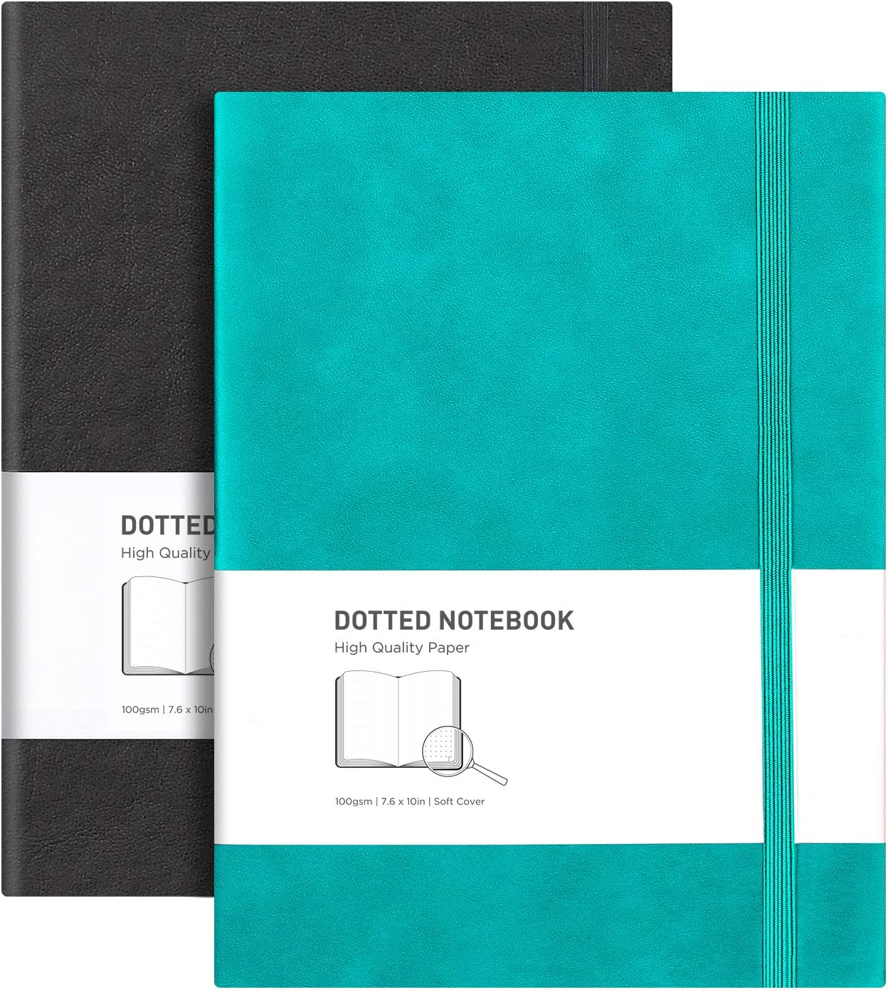 RETTACY Dotted Fees free!! Grid Arlington Mall Journal 2 Pack - Large Composition B5