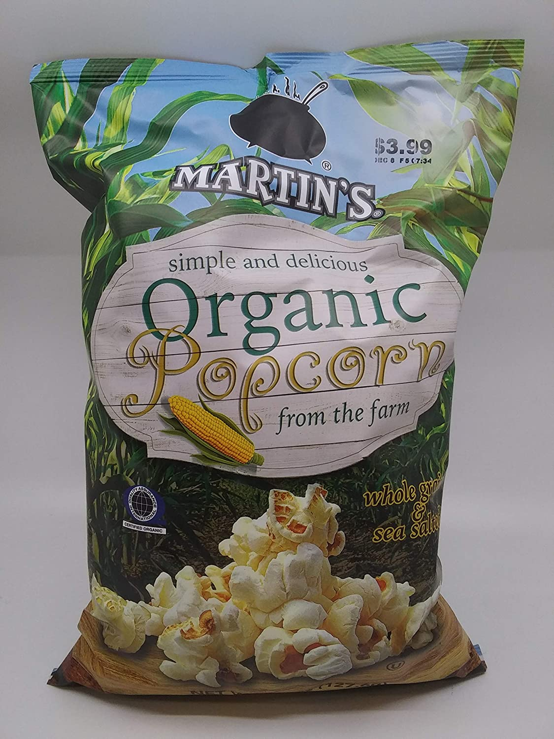 Martin's Whole Grain and Sea Salt 4.5 Some OFFicial site reservation Organic Popcorn Bags oz.