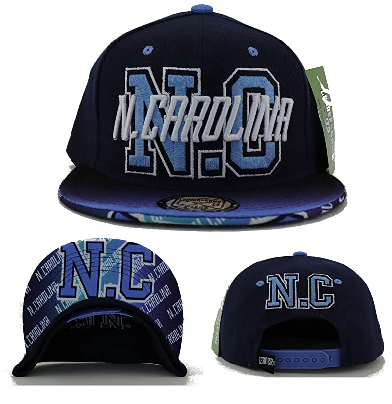 North Carolina New Leader Flash Fade Tar Heels Colors Blue Era Snapback Hat Cap