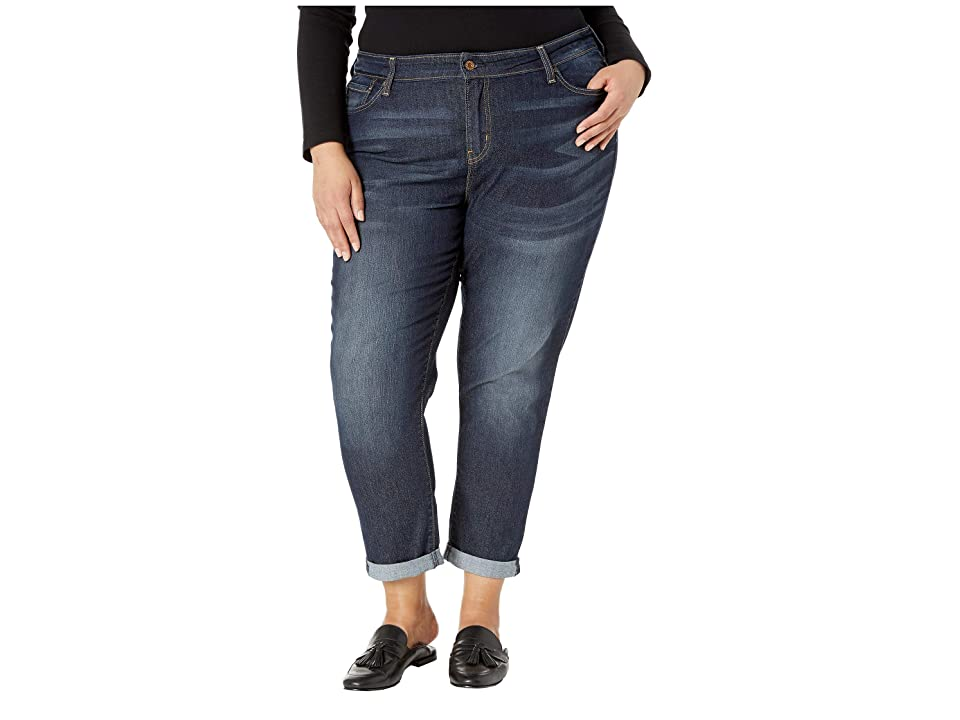 Signature by Levi Strauss & Co. Gold Label Plus Size Mid-Rise Slim Boyfriend Jeans (Stormy Sky Canada) Women